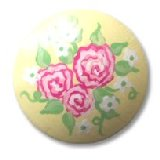Rose Bouquet Yellow Drawer Knobs