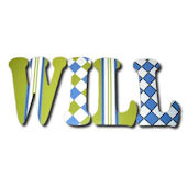 Preppy Will Hand Painted Wall Letters