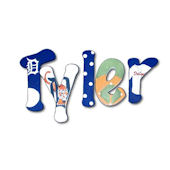 Tyler Tiger  Hand Painted Wall Letters