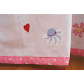 Natureland Fairies Embroidered Bed Skirt