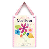 Flower Gril Personalized Plaque
