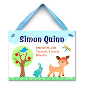 Forest Friends Boy Personalized Plaque