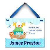 Noahs Ark Boys Birth  Personalized Plaque