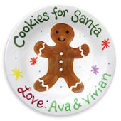 Cookies For Santa Gingerbread  Personalized Plate