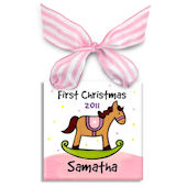 First Christmas Horse Girl  Personalized Ornament
