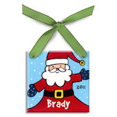 Jolly Santa Boy  Personalized Ornament