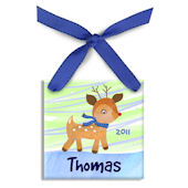 Little Rudolph Boy  Personalized Ornament