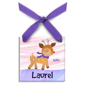 Little Rudolph Girl  Personalized Ornament