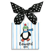 Penguin Boy  Personalized Ornament