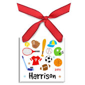 Play Hard  Personalized Ornament