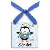 Polar Penguin Boy  Personalized Ornament