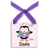 Polar Penguin Girl  Personalized Ornament