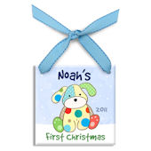 Precious Pup Boy  Personalized Ornament
