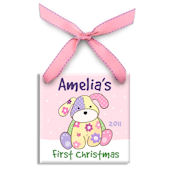 Precious Pup Girl  Personalized Ornament