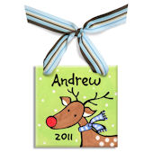 Reindeer Boy  Personalized Ornament