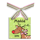 Reindeer Girl  Personalized Ornament