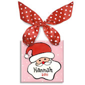 Santa Girl Personalized Ornament