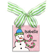 Snowman Girl  Personalized Ornament