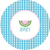 Watermelon for Dinner Blue Personalized Dinnerware