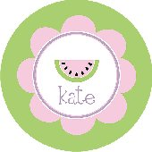 Watermelon for Dinner Pink Personalized Dinnerware