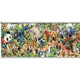 Jungle Animals Wall Minute Mural