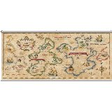 Treasure Map Antique Wall Minute Mural