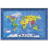 World Map Wall Minute Mural
