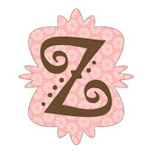 Mod Monogram Pink and Chocolate Z Wall Sticker