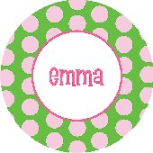 Polka Dot Name That Plate Personalized Dinnerware