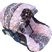 Nollie Helena Rose Infant Car Seat Cover