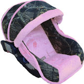 Nollie Hunter Pink Infant Car Seat Cover