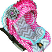 Nollie Polka Dots Infant Car Seat Cover