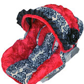 Nollie Red Roses Infant Car Seat Cover
