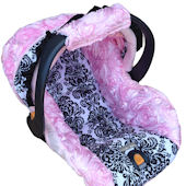 Nollie Victoria Rose Pink Infant Car Seat Cover
