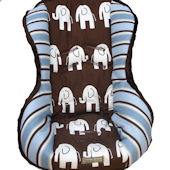 Nollie Elephant Walk Toddler Car Seat Cover