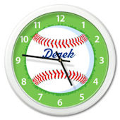 Olive Kids Baseball Personalized Clock