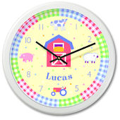 Olive Kids Country Baby Personalized Clock