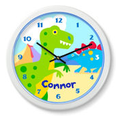 Olive Kids Dinosaur Land  Personalized Clock