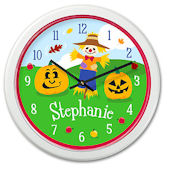 Olive Kids Fall Personalized Clock