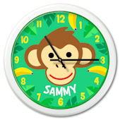 Olive Kids Monkey Personalized Clock