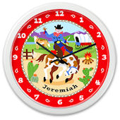 Olive Kids Ride Em Personalized Clock