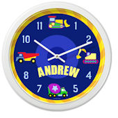 Olive Kids Under Construction Personalized Clock