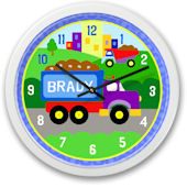Under Construction Dump Truck Personalized Clock
