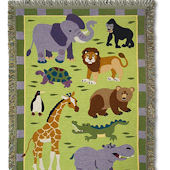 Olive Kids Wild Animals Woven Throw