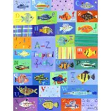 A to Z Tropical Fish Wall Art