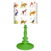 Oopsy Daisy A to Z Animal Prints Lamp Shade & Base