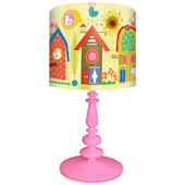 Oopsy Daisy Backyard Birdhouse Lamp Shade and Base