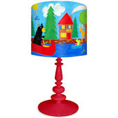 Oopsy Daisy Black Bear Lodge Lamp Shade and Base