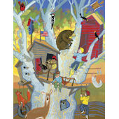 Boys Tree House Canvas Wall Art