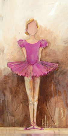 Belle Of The Ballet Pink Canvas Wall Art